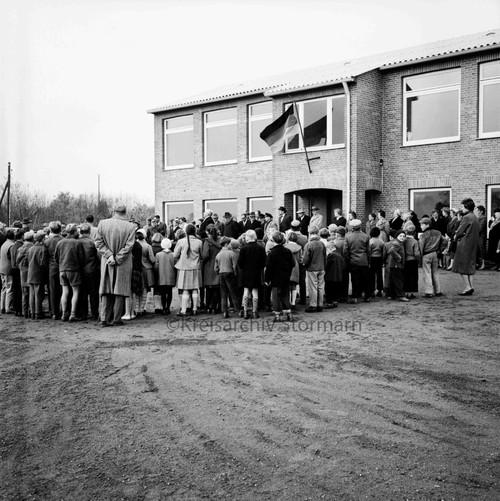 Einweihung der Dörfergemeinschaftsschule in Hamberge, 1959