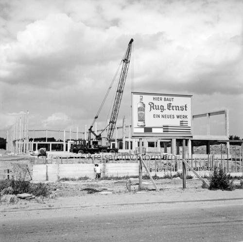 Bau des neuen Gebäudes für die Firma August Ernst, 1970
