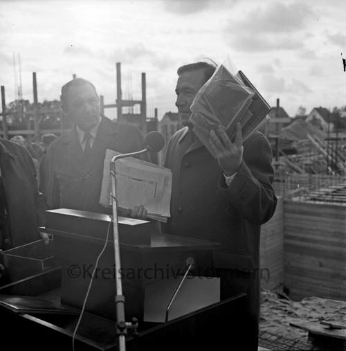 Ansprache zur Grundsteinlegung des Schulzentrums Oher Weg, 1973
