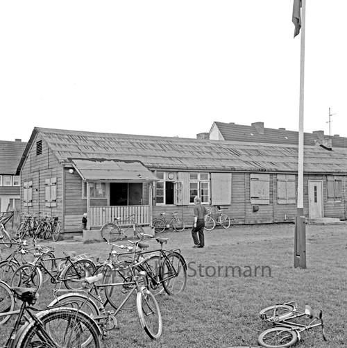 Baracke als Sportlerheim im Jahre 1965