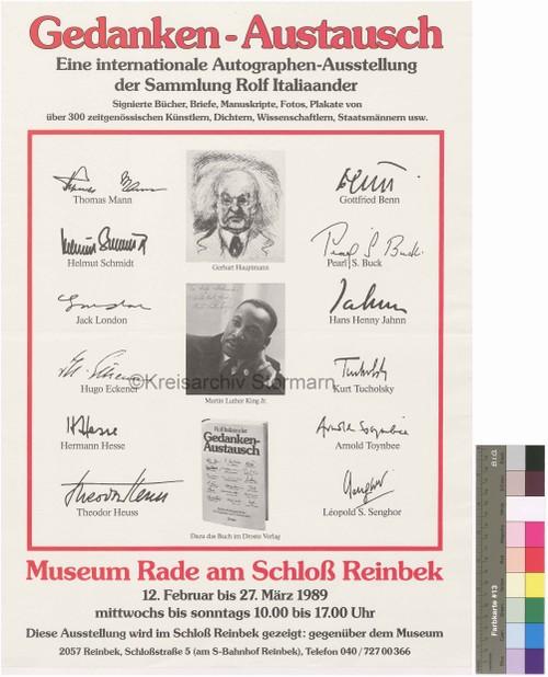 Ausstellungsplakat, 1989