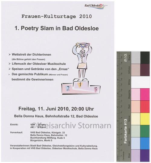 Plakat zum 1. Poetry Slam in Bad Oldesloe, 2010
