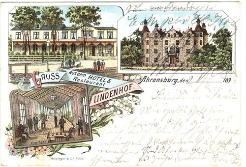 Postkarte vom Hotel & Restaurant Lindenhof, 1898