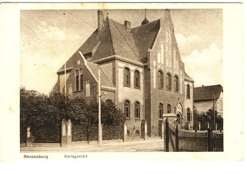 Postkarte vom Amtsgericht Ahrensburg, 1930