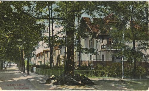 Amalienstraße in Marienthal (heute Jüthornkamp), 1908
