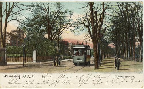 Postkarte der Schlossstraße, 1909