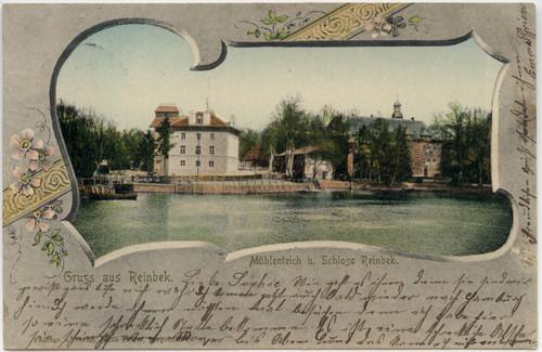 Postkarte mit dem Elektrizitätswerk links, 1902