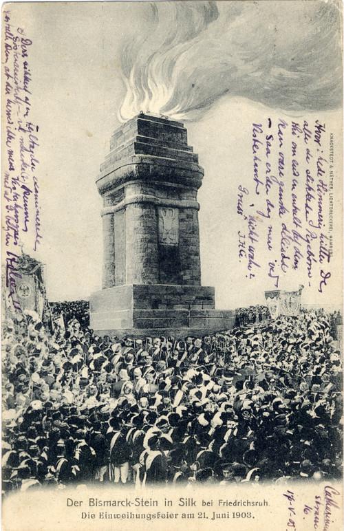Postkarte mit Foto Einweihungsfeier am 21. Juni 1903