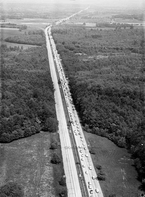 Bundesautobahn 1 zwischen Großhansdorf und Hammoor, 1965