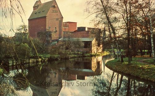 Gloria-Mühle der Firma Ströh in Bad Oldesloe, ca. 1970