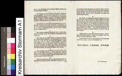 Dienstreglement vom 31.11.1782